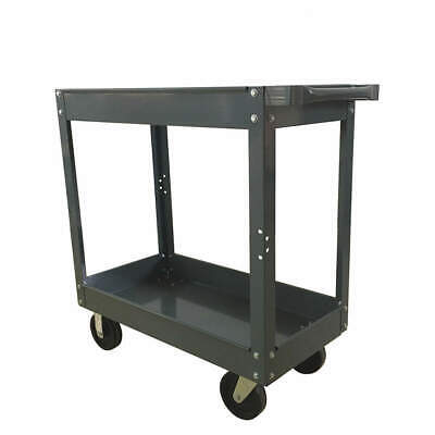 "GRAINGER APPROVED Steel Unassembled Utility Cart,24"" W,800 lb., 2W425, Gray"