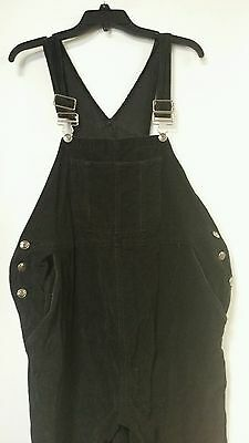 Baby And Me Maternity Plus Size Black Overalls Medium #00799