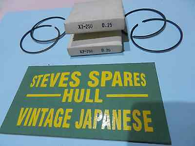 SUZUKI GT250/380 AND X7  0.25o/s   PISTON RING SETS 12140-33012-025