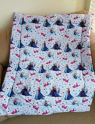 Frozen Elsa & Annna Cot Quilt or Playmat Handmade NEW
