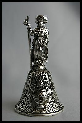 † Saint James The Greater Santiago Of Compostela Table Bell Silverplate Spain †
