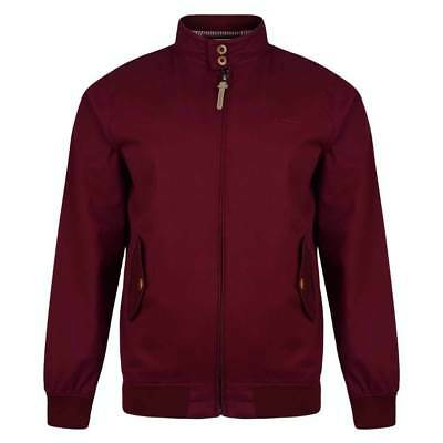 Lambretta Mens Burgundy Harrington Bomber MOD SKA Scooter Jacket Coat