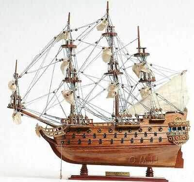"San Felipe Spanish Armada Galleon Tall Ship 19"" Wood Model Sailboat Assembled"
