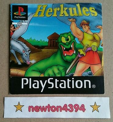 Herkules PS1 PlayStation PSOne Phoenix *INSTRUCTION MANUAL ONLY* PAL VERY RARE ✨