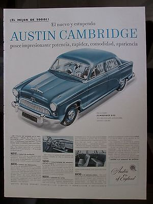 Austin Cambridge A 50 Ad 1954 From A Magazine In Spanish