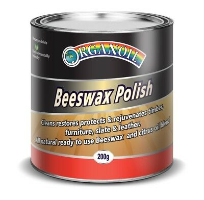 Beeswax polish 200gm - rejuvenates & protects interior timbers, seals slate