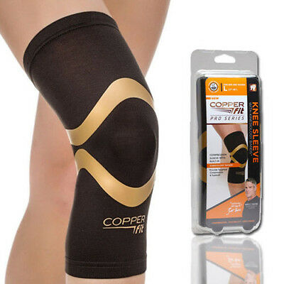 New Copper Fit Pro Series Performance Compression Knee Sleeve Brace L / XL