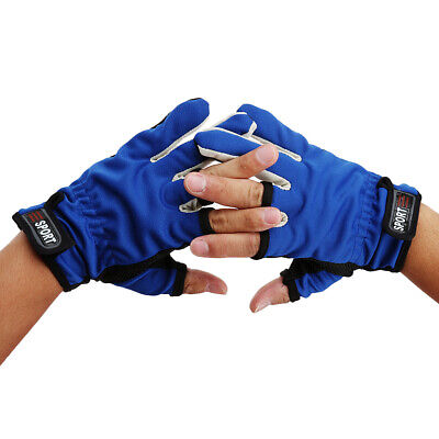 Outdoor Fishing Shooters Non Slip Friction Palm 3 Low Cut Fingers Gloves