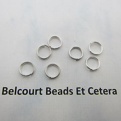 100 Silver Color Metal 8mm Double Split Ring