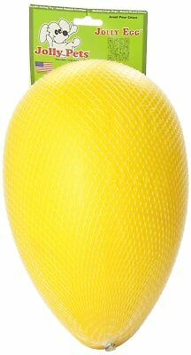 Jolly Pets Egg 12 inch Yellow | Hard Plastic Chew Toy for Large Dogs