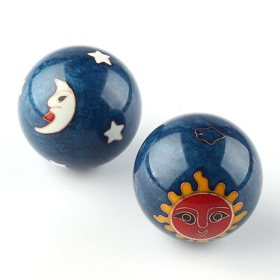 Chinese Health Exercise Stress Baoding Balls Relaxation Therapy Moon&sun Design