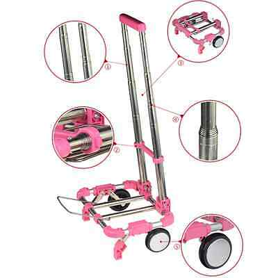Portable Foldable Shopping Hand Cart Outdoor Travel Luggage Trolley Trailer