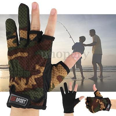 3 Shorter Finger Guanti da pesca Impermeabile Fishing Gloves Hunting Anti-Slip