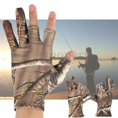 3 Shorter Finger Cut Guanti da pesca Fishing Gloves Hunting Shooting Anti-Slip
