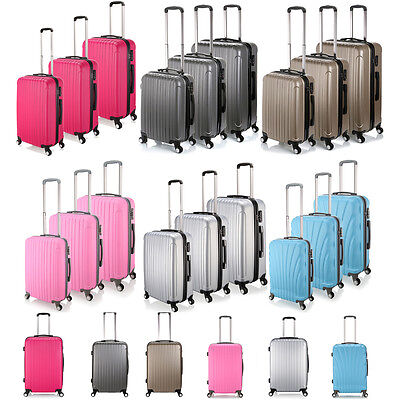 "Luggage Lightest ABS Trolley 20""- 28"" Suitcase Single/Set Cabin Bag Lightweight"