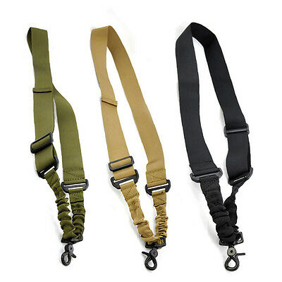 New 1 Single Point Adjustable With Buckle Hunting Sling System Strap Tactical