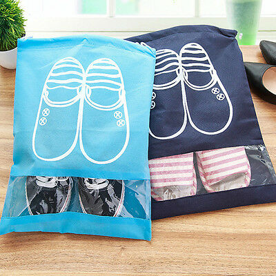 Shoes Bags for Girls Women Dustproof Non-Woven Travel Shoes Storage Bags x1