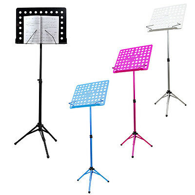 Music Conductor Stand Sheet Metal Tripod Holder Folding Stage Height Adjustable
