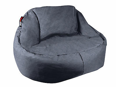 2 x NEW Beanbag Indoor Outdoor Cafe Camping Waterproof Cover No Beans Black Char