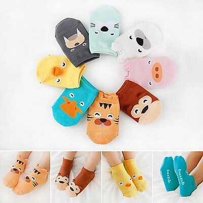 Boy Girl Soft Socks Kid Newborn Baby Cartoon Ankle Socks Infant Toddler Non-slip