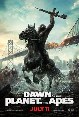 Dawn Of The Planet Of The Apes Movie Charge A4 Poster Gloss Print Laminated