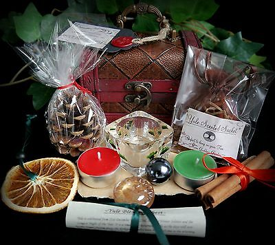 Witches Yule Blessing Chest with Scrying Orb, Sun Wiccan Pagan Divination Gift