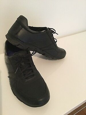 Men's casual black leather shoes size 9 1/2 by Rockport adiPREEN by addidas