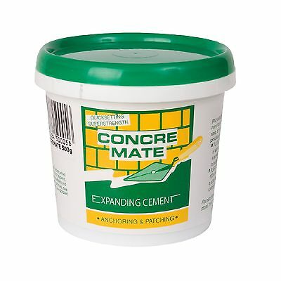Timbermate CONCREMATE EXPANDING CEMENT 500g Sets Hard In 1 Hour*Australian Brand