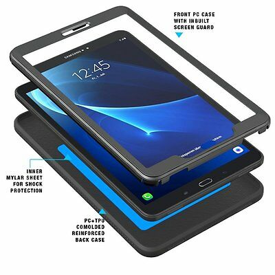 POETIC Shock Absorption Protector Case For Samsung Galaxy Tab A 10.1 Black