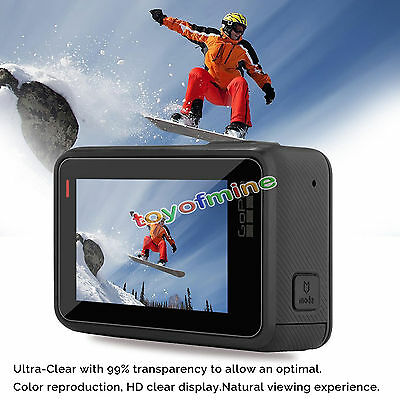 2XTempered Glass HD Clear Protective Screen Protector Guard Film for GoPro Hero5