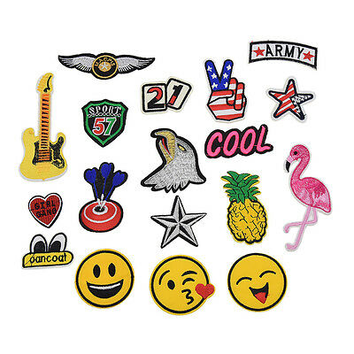 1 Set Cute Embroidered Sew Iron On Patches Applique Badges DIY Clothes Bags