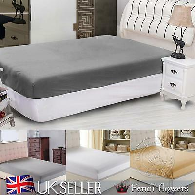 """Extra Deep Fitted Sheet 10"""" , 30cm King Super King Size Bed Fitted Sheets UK"""