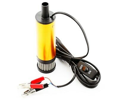 12V DC 30L/Min Diesel Fuel Water Oil Camping Submersible Transfer Pump