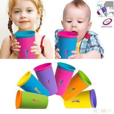 360° Cup for Kids Spill cup drinking rim Leakproof Baby- 6 colours Drinkware CA