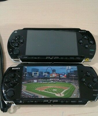 Lot of 2 Sony PSP Handheld Systems  (1001 and 3001) - Partially Working