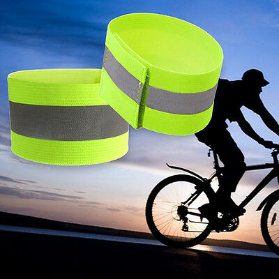 2X Ultralight Safety Reflective Sport Arm Band Armband for Night Running Cycling