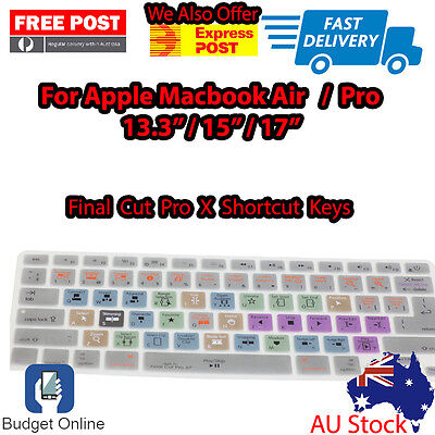 """Final Cut Pro X Keyboard Cover Protector for Apple MacBook Pro Air 13"""" 15"""" 17"""