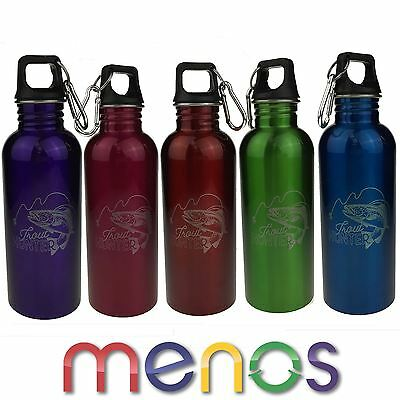 750ml Sports Water Bottle Flask with Fishing Motif Design Gift Laser Engraved