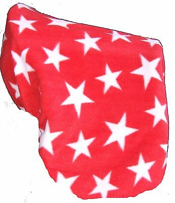 Ecotak red star polar fleece pony pad cover