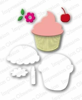suitable for most die cutters 113Q CUPCAKE SET DIE-Impression Obsession