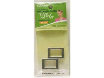 Clover Bag Accessory Rectangle Rings Glossy Nickel 3/4inch