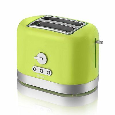 Swan ST10020LIMN 2-Slice Toaster in Lime Green