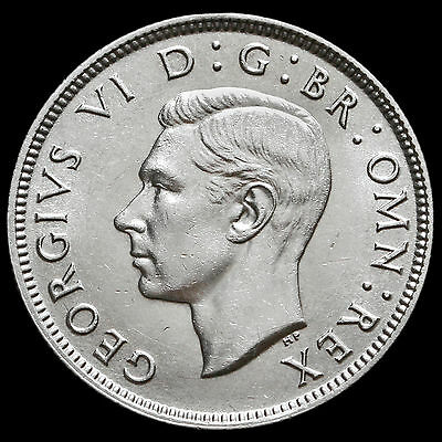 1937 George VI Silver Two Shilling Coin / Florin – G/EF #3