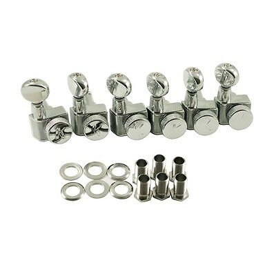 Kluson Locking Tuners For Fender USA Standards, 6 In Line - Oval Metal Button