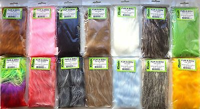 FURABOU Medium-long Craft Fur haired Fly Tying Materials Lot of 1, 3 or 5 colors
