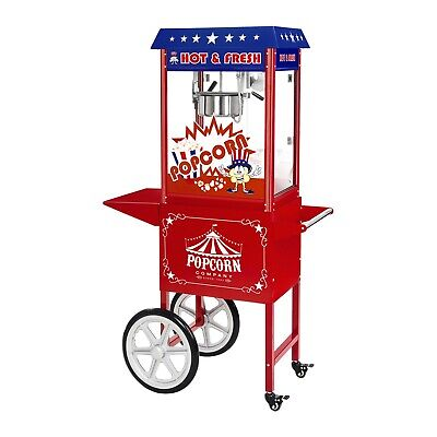 Large Popcorn Maker Party Machine American Design With Accessories And Wagon