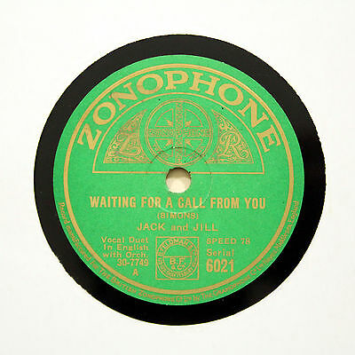 "JACK AND JILL ""How Can I Be Good With You"" ZONOPHONE 6021 [78 RPM]"