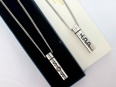 "30"" Sos Necklace/pendant Medical Info Alert/emergency/stainless Steel Talisman"