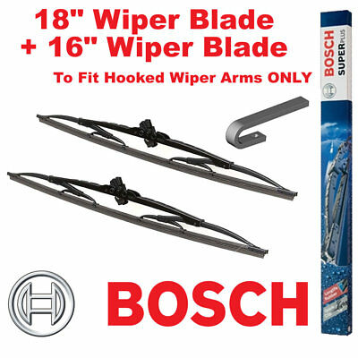"Bosch Super Plus Front Wiper Blades 18"" Inch SP18 and 16"" Inch SP16 Pair Windscr"