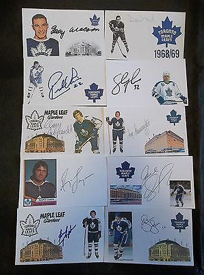 Toronto Maple Leafs 10 Autographed 3x5 Index Cards Lot K